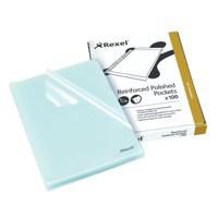 Rexel Nyrex Cut Flush Open 2 Side A4 Folders Clear Code 12215