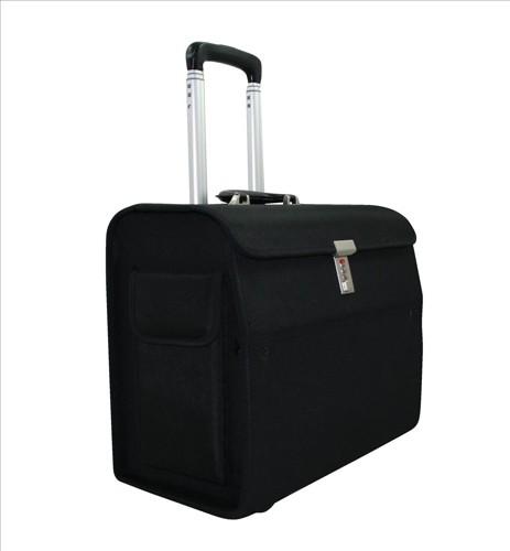 Alassio Trolley Pilot Case Nylon Black 45033-1