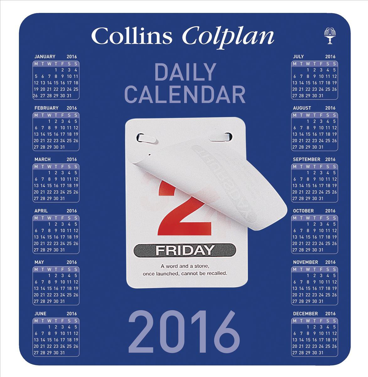 Collins 2016 Daily Block Calendar CDBC