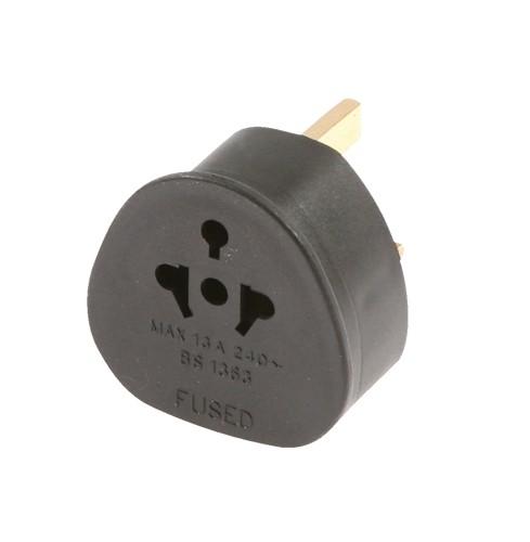 Travel Adaptor EU/USA/AUS to UK (Black) Ref TADBBC-DX
