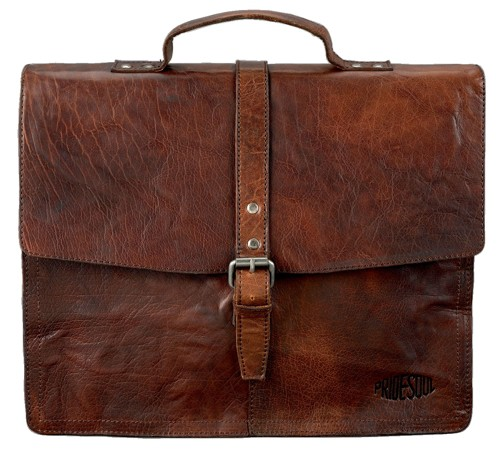 Pride&Soul Jayden Leather Business Bag with Shoulder Strap