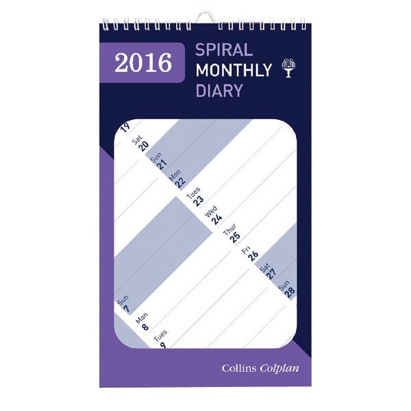 Collins Colplan 2016 Mnth Notbk Calendar
