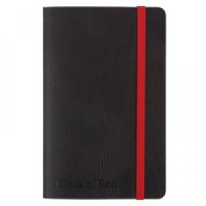 Black By Black N Red Soft Cover Notebook A6