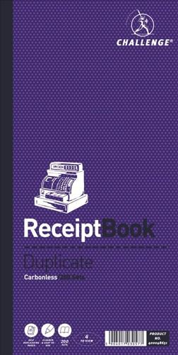 Challenge Duplicate Book Carbonless Receipt 240x141mm