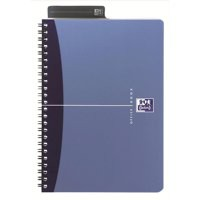 Oxford Office Metallics A4 Twin-Wire Notebook PP 180 Page Blue
