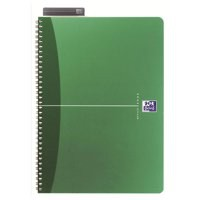 Oxford Office Metallics A5 Twin-Wire Notebook PP 180 Page Green