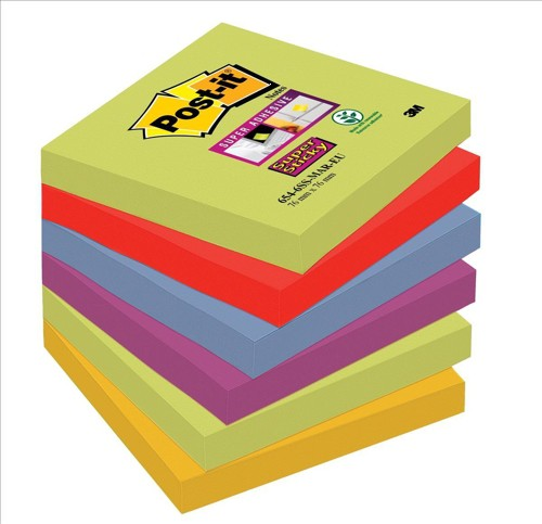 Post-it SS Notes Marrakesh 76x76mm Pk6