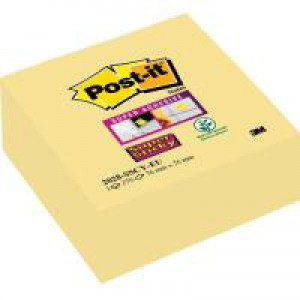 Post-it SuperSticky Canary Yellow Cube 76x76 270 sheets