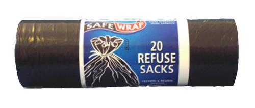 Safewrap 20 Refuse Sacks 4 Rolls