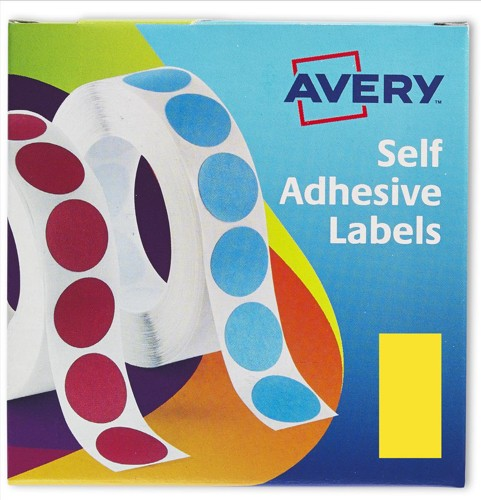Avery Label Dispenser for 25x50mm Yellow Ref 24-603 [400 Labels]