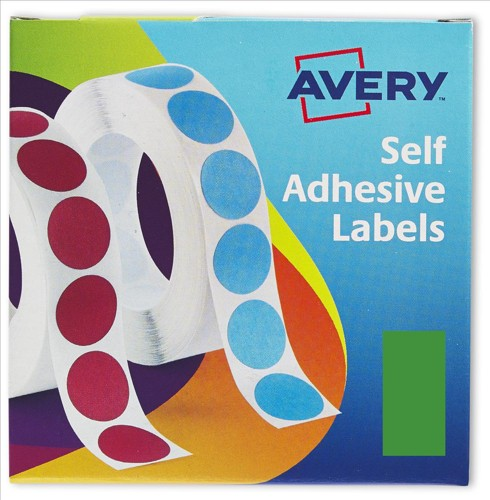 Avery Label Dispenser for 25x50mm Green Ref 24-604 [400 Labels]