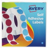 Avery Circle Labels 8mm Disp Blu 24-616
