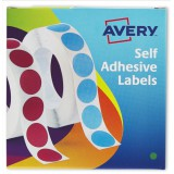 Avery Circle Labels 8mm Disp Grn 24-618