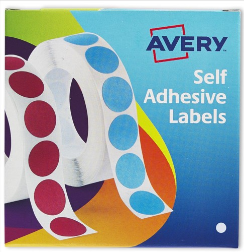 Avery Circle Labels 8mm Disp Wht 24-620