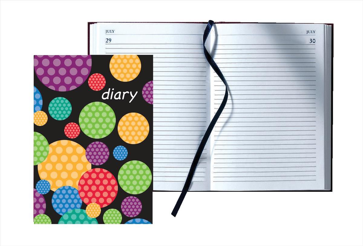 Collins A5 Day A Page Any Year Diary Circles Design 56C