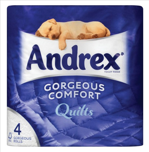 Andrex Quilts 4 Roll's per pack