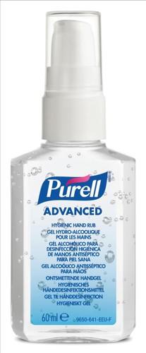Purell Adv Hyg Hand Rub60mlPersSprayPump