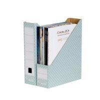 BankerBox Magazine File Grn/Wht 4481501
