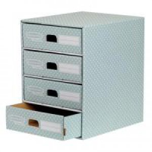 BankerBox 4Drawer Unit Grn/Wht 4481701