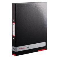 Black n Red by Elba Ring Binder A4 25mm Capacity Black