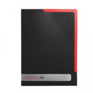 Black n Red by Elba L Folder Polypropylene Black Pack 5