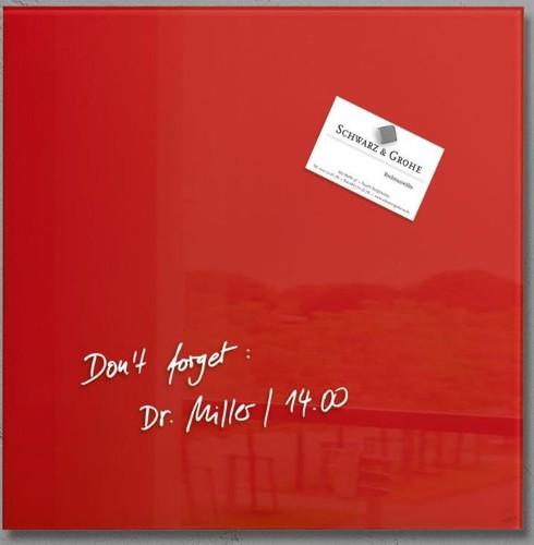 Sigel Artverum Magnetic Glass Board 300x300mm Red