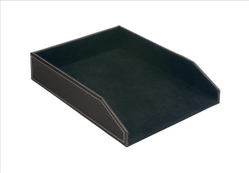 INVO Faux Leather Letter Tray Brown