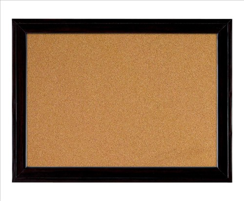 Quartet Cork Board 585x430mm Black Frame