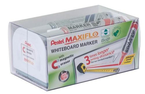 Pentel Maxiflo Drywipe Marker Bullet Tip Black