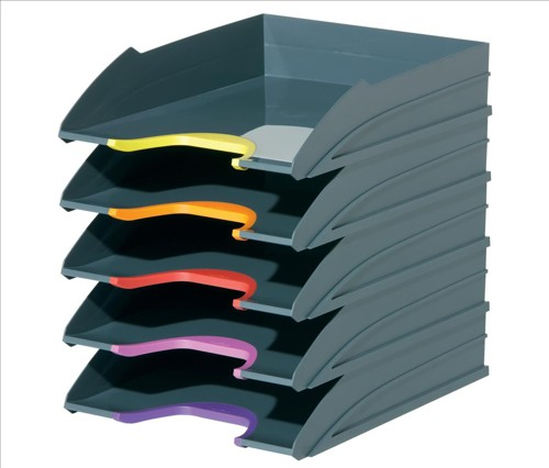 Durable Varicolor Letter Tray Set Ref 770557 [Set 5]