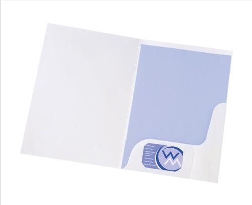 Pres Folder White W/Wdw Gloss WB100410
