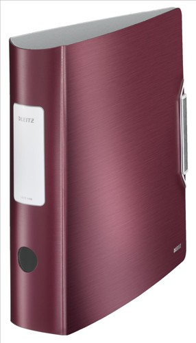 Leitz 180° Active Style Lever Arch File A4 Polypropylene 80mm Garnet Red