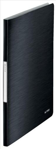 Leitz Style Display Book A4 Soft Polypropylene Cover 20 Pocket Satin Black