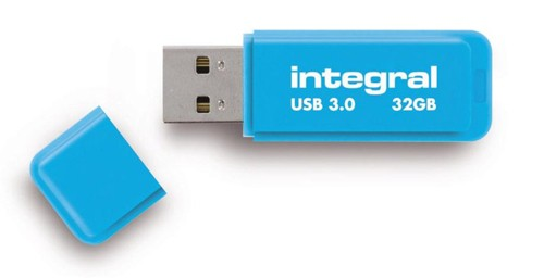 Integral NeonUSB3.0 FlashDriveBlue32GB