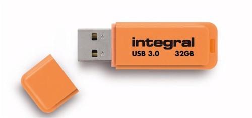 IntegralNeonUSB3.0FlashDriveOrange 32GB