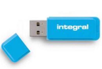 Integral Neon Flash Drive USB 3.0 64GB Blue