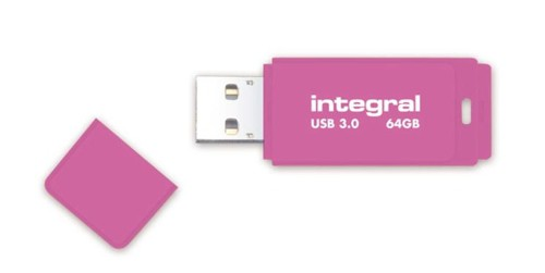 Integral Neon Flash Drive USB 3.0 64GB Pink