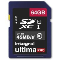 Integral Ultima Pro 64Gb SDXC Memory Card Class 10 Code INSDX64G10-45