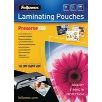 Fellowes Laminating Pouch A4 250Micron Pack 100 Code 54018