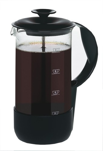 Emsa Neo Cafetiere Glass Heat-Resistant And Stainless Steel 8 Cup Black Trim Code 1225089700