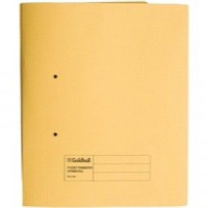 Guildhall Transfer Spring Files with Inside Pocket 315gsm 38mm Foolscap Yellow