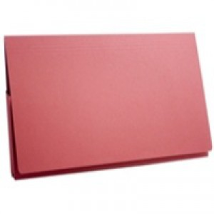 Guildhall Brief Pocket Wallet 14x10in Full Flap 315gsm Red