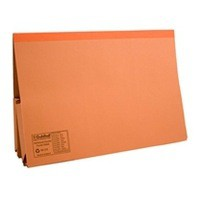 Guildhall Legal Wallet Double Pocket Manilla 315gsm 2x35mm Foolscap Orange Ref 214-ORGZ [Pack 25]