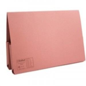 Guildhall Legal Wallet Double Pocket Manilla 315gsm Foolscap Pink