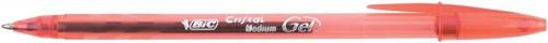 Bic Cristal V2 Rollerball Pen Gel Ink 0.7mm Tip 0.5mm Line Red Ref 8438871 [Pack 20]