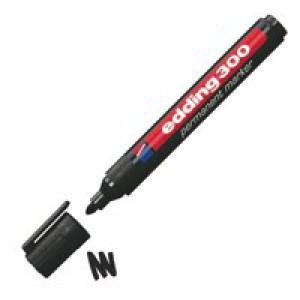 Edding 300 Black Perm Bullet Marker Pk10