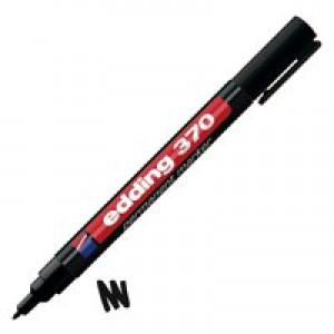 Edding 370 Black Fine Perm Marker Pk10