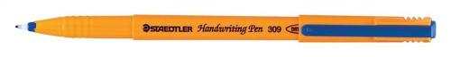 Staedtler 309 Handwriting Pen Fibre Tipped 0.8mm Tip 0.6mm Line Blue Ref 309-3 [Pack 10]