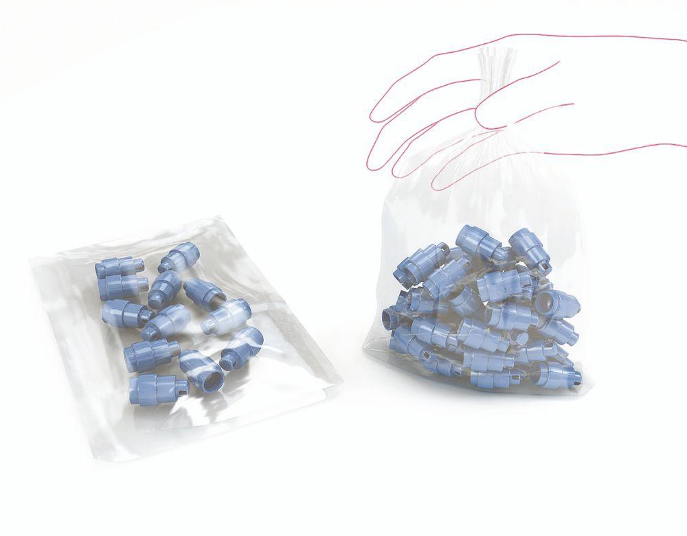 Open Top Polythene Bags Light Weight 500x750mm 100 Gauge 23mic Pack 500