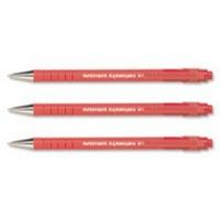 PaperMate Flexgrip Ultra Ball Point Pen Medium 1.0mm Tip 0.7mm Line Red Code S0190133